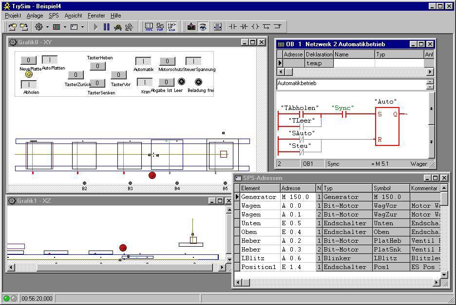 3-D machine simulation for PLC Programmers - TRYSIM :: Cephalos GmbH